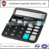 promotional gifts,cheap electronic digital calculator with keyboard,full inspection,factory audit,inline inspection,QC service