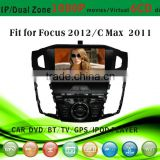 car dvd vcd cd mp3 mp4 player fit for Ford Focus 2012 CMAX 2011 with radio bluetooth gps tv pip dual zone