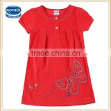 (H6031D) 2-6Y 2015 Corduroy baby frocks baby girls christmas dresses child clothes summer dress