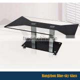 8mm black painted tempered coffee table top glass