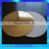 ISO Factory Gold Wrapped Customized Pattern Paper Cake Boards For Base Decoration