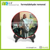 High quality eco-friendly religious Catholic Jesus home decor plate for absorbing hazardous gas,purifying the air