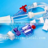 Medical Disposable pressure single double channel transducer infusion set for USB connector