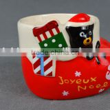 creative hot-selling lovely cartoon christmas gift red shoes boot model of ice cream ceramic mug without handle
