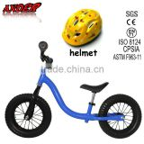 children balance bike/bicycle for child for direct factory price with safe helmet (Accept OEM Service)