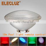 PAR56 RGB 15.5 watt IP68 remote control swimming pool light led underwater light 12V AC with glass cover