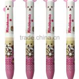 Cute cartoon pink ball pen with two different color refills