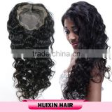Aliexpress fast shipping Double drawnThick bottom afro full lace human hair wigs for men