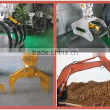 pc200 excavator logging Grapple Bucket, hydraulic grapple rock grapple, rotating grab made in China