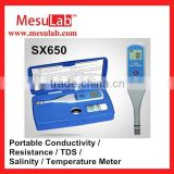 Water quality test meter Pen type Conductivity / Resistance / TDS / Salinity / Temperature Meter