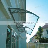 China suppliers Polycarbonate Metal Roof Awning For Doors And Windows manufactory