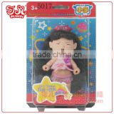 9cm baby doll mini keychain plastic girl doll branded toy