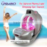 factory supplier infrared steam sauna infrared bed sap capsule / photon 6 lights 8 pieces LED therapy spa capsule