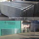 Bottom price!Heavy duty cattle/sheep/goat used horse corral panel,galvanized pipe portable farm fence panel and gate hot selling