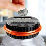 Electronic counting coin saving pot Large Money Boxes Digital Counting Led Showing Money Jar piggy bank