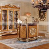 Vitoria Style Bar Furniture, Exquisite Carved wooden Bar Counter Table, Luxury Gilding Wooden Bar/Bar Stool/Wine Cabinet