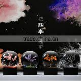 Household Crystal Glass Decoration Ball For Four Season, Best Birthday Gift To Your Girlfriend