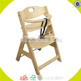 Cheap price baby high chair Restaurant Infant Feeding Antique Wood Baby High Chair W08F019