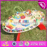 2017 New design multi-function toys wooden toddler activity table W12D065