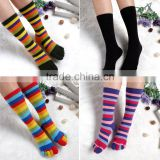 High quality long section colorful strip five fingers socks long stocking toes socks