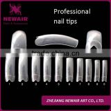 NEWAIR Fashionable High Quality 500pcs/BOX Salon Use Half Cover French Artifical Nail Tips