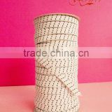 8mm Wide white Braided Elastic manufacturer