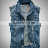 zm35658a Korean man jeans waistcost vest fashion denim jacket