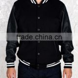 new zip style leather varsity jackets men