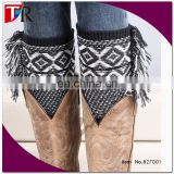 2015 christmas essential products aztec tassel leg warmer /boot cuffs