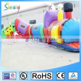 Cute Sunway Inflatable Train Tunnel Inflatable Train for Fun Caterpillar Tunnel train for Kids