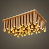 LED wooden pendant lamp with 96pcs led light