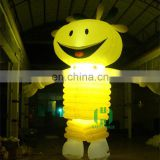 Event or party sun shaped inflatable advertising figures led inflatable cartoon with light