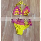 Yellow and Pink Swimwear Bikini