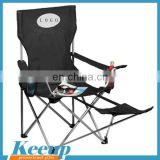 Customized big folding double camping chair with foottrest
