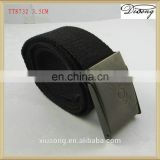 Wholesale military fabric belt strap with iron buckle