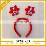 hot sell Decoration santa clause snow christmas headband