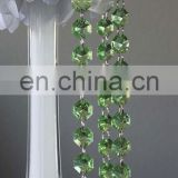 wedding party chandelier crystal green garland