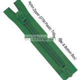Manufacturer of 10 # two way separate open end nylon zipper with normal auto lock slider
