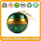 Hot Sale Metal Tin Can Christmas Ball Gift Tin Box For Christmas Gifts