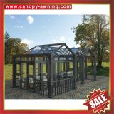 Prefabricated glass house,sun room,sun house,sunroom,aluminium structure house,super durable!