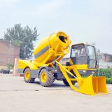 4M3 model self loading concrete mixer with water pump