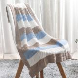 New hot selling knitted cotton blanket a good partner for baby sleeping soft and light baby blanket outdoor windproof blanket