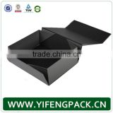 Customized Brand Made For Miami Luxury Black Bespoke Size Folding Box Gift Box Manufacturer
