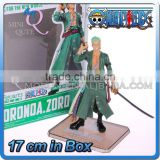 MINI QUTE 17 cm japanese anime Sea poacher Pirates one piece action figure zoro Solon brinquedos boys in box NO.MQ 066