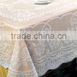 White Solid Elegant Lace Tablecloth for Wedding                                                                         Quality Choice