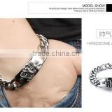 Antic unique titanium sterling steel man bracelets handmade heavy 316L steel design bangles