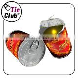 Bright LED Mini Home Scented can candle loving heart candle tin for gift