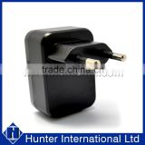 With CE Black For Dual USB EU Main Charger Plug