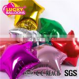 Foil balloon manufacturer EN71 quality 18 inch star shaped decoration plain mylar balloon