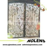 Beautiful Rose Flower Decorative Small Wrought Iron Garden Gates Prices/manufacture of ornamental wrought iron Gate